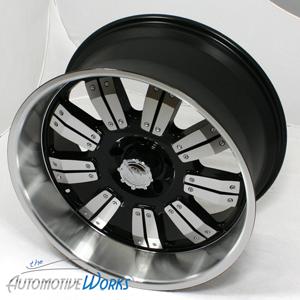 18x9 Edge Mech 8x170  12mm Black Machined Wheels Rims Inch 18