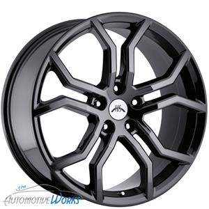 20x9 Vision Havoc 5x120 +40mm Phantom Black Chrome Wheels Rims Inch 20