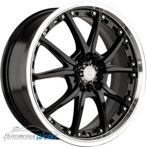 17 Edge Black Wheels Rims Inch Mercedes Audi 5x112